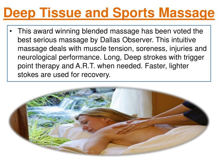 Deep Tissue and Sports Massage
