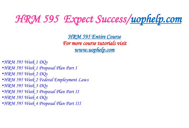 Hrm 595 expect success uophelp com1