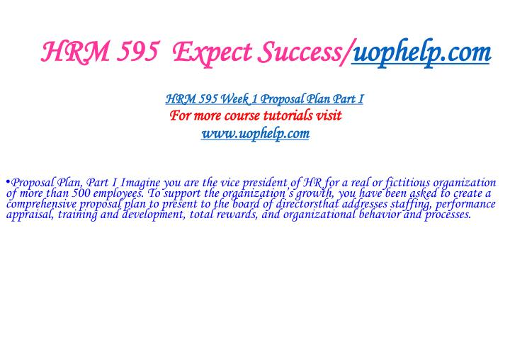 Hrm 595 expect success uophelp com2