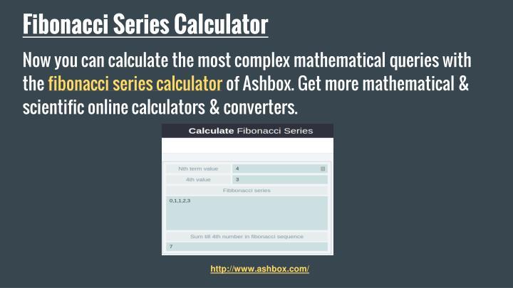 Fibonacci Series Calculator