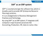 sap as an erp system