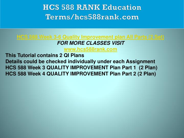 HCS 588 RANK Education Terms/hcs588rank.com