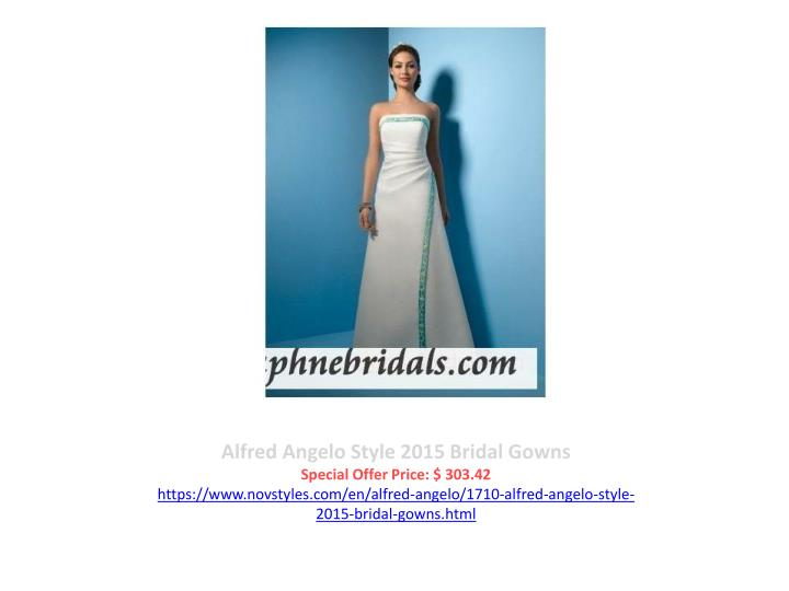 Alfred Angelo Style 2015 Bridal Gowns