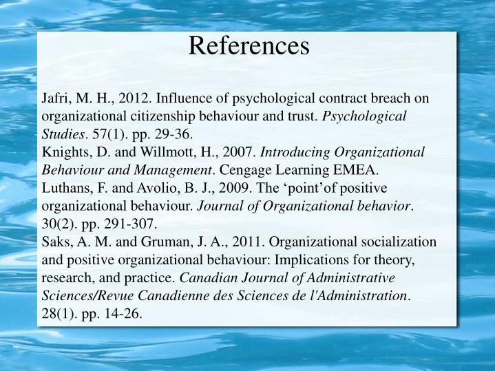 organizational behaviour assignment