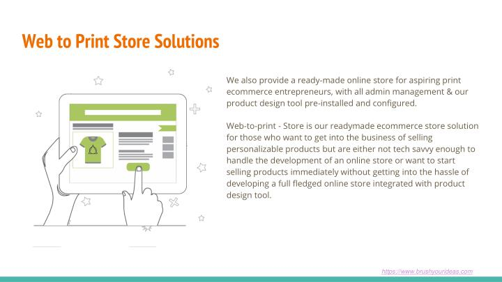Web to Print Store Solutions