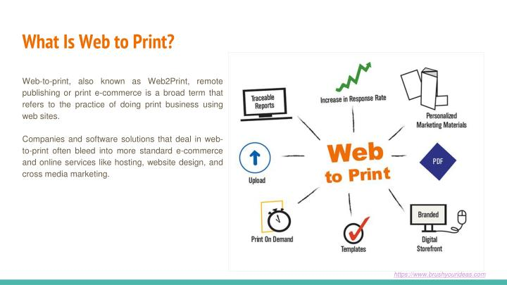 What is web to print