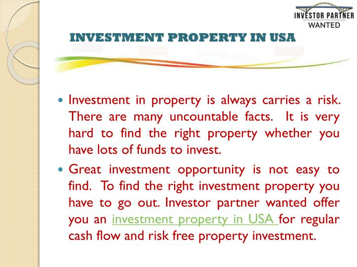 Investment property in usa