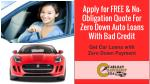 apply for free no obligation quote for zero down auto loans with bad credit