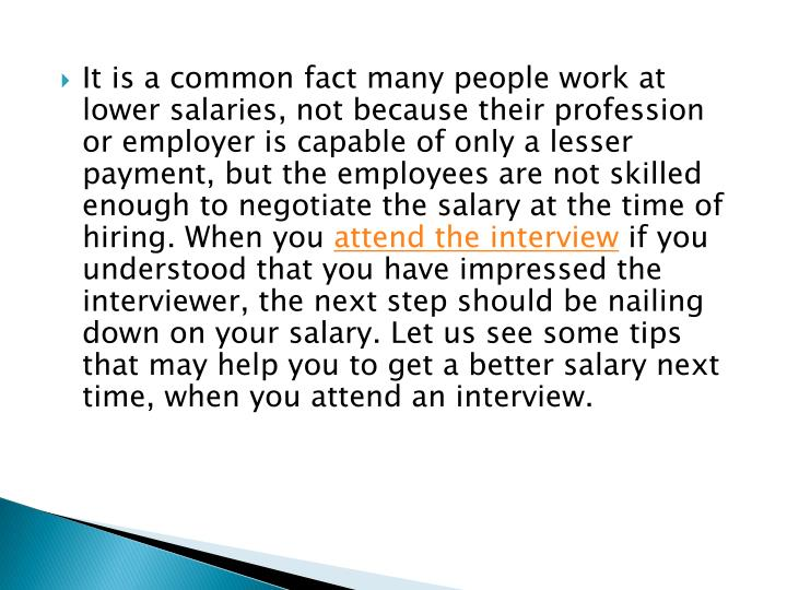 ppt how to negotiate your salary powerpoint presentation id 7427716