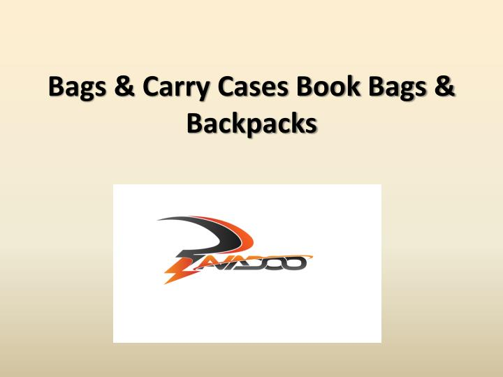 Bags carry cases book bags backpacks