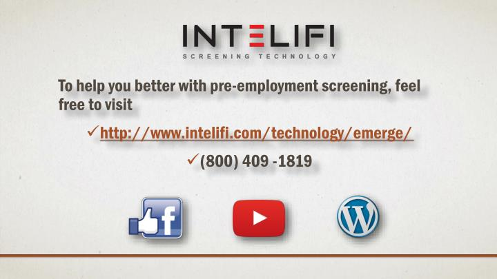 To help you better with pre-employment screening, feel free to visit