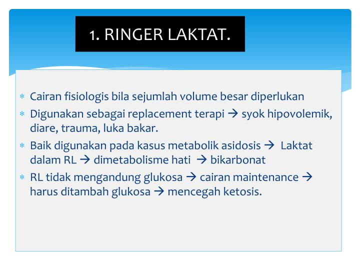 1. RINGER LAKTAT.