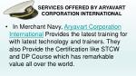 services offered by aryavart corporation international1