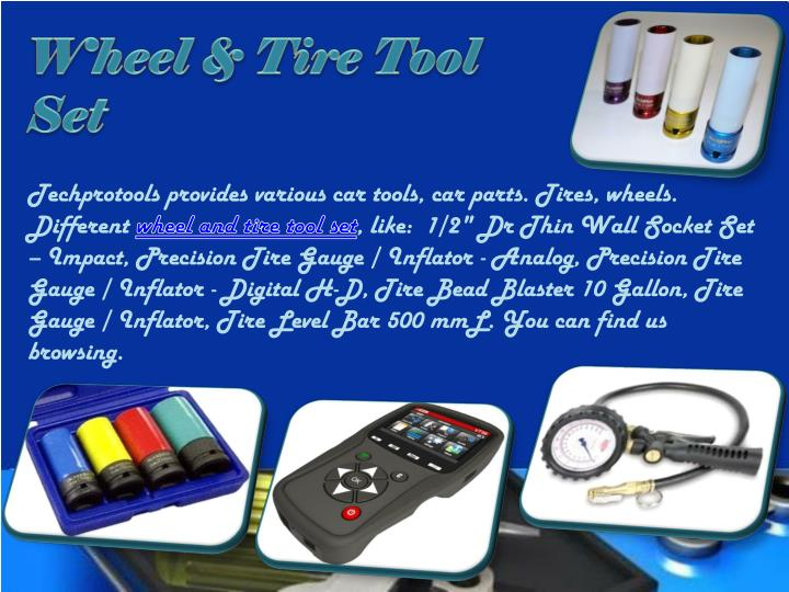 Wheel & Tire Tool Set