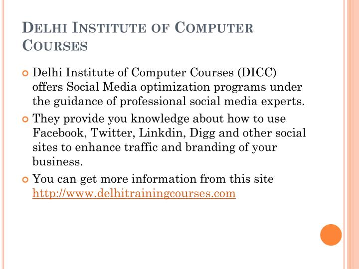 Delhi Institute of Computer Courses
