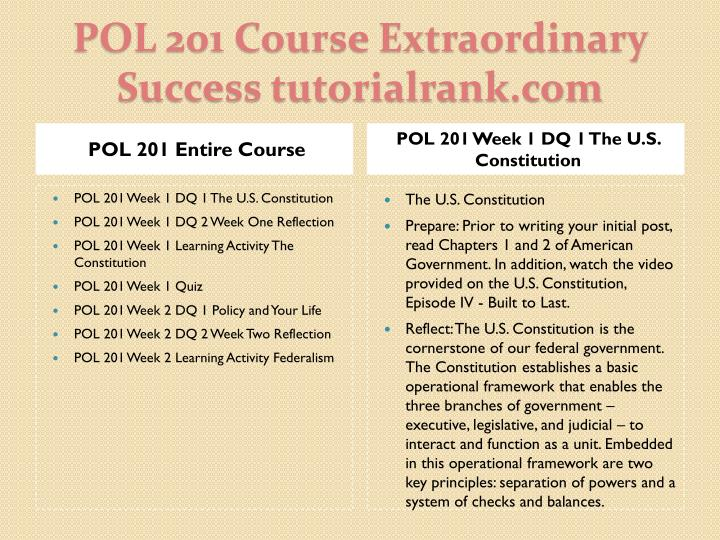 POL 201 Entire Course