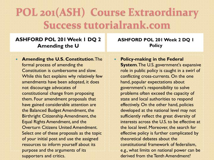 Pol 201 ash course extraordinary success tutorialrank com2