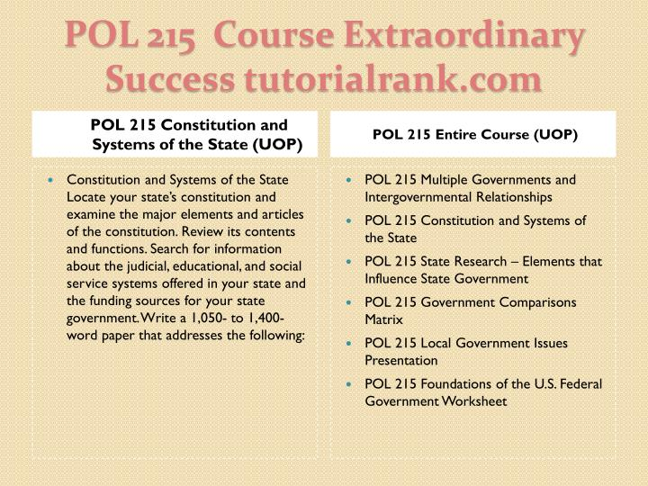 Pol 215 course extraordinary success tutorialrank com1