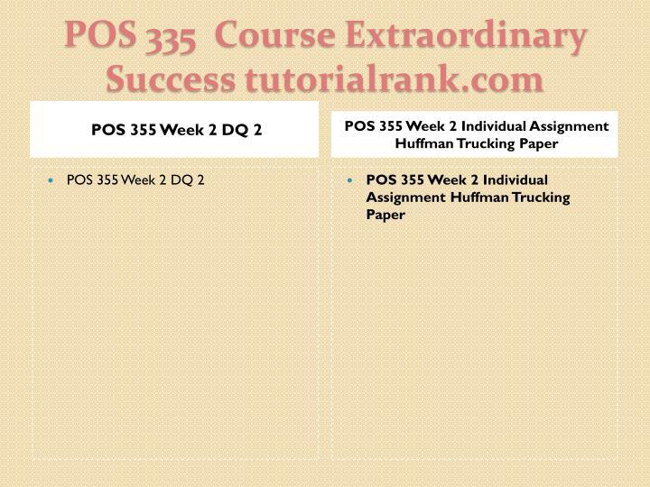 POS 355 Week 2 DQ 2
