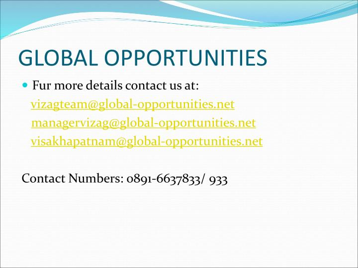 GLOBAL OPPORTUNITIES