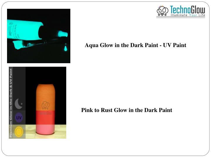 Aqua Glow in the Dark Paint - UV Paint