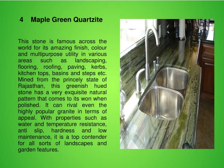 4    Maple Green Quartzite