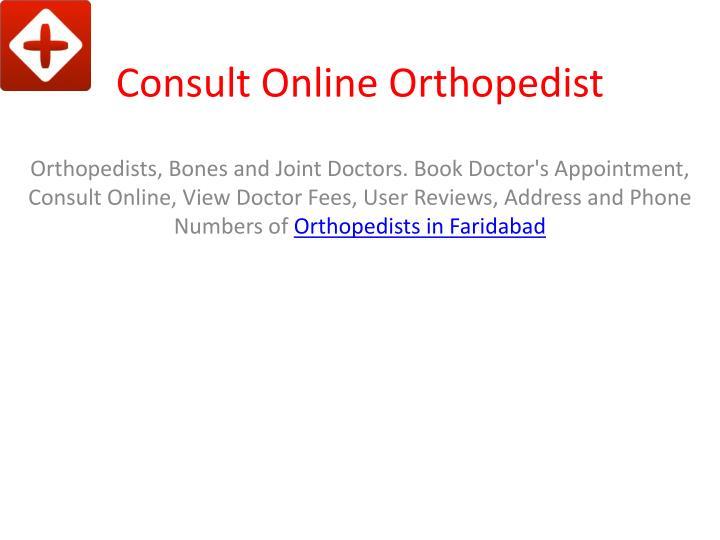 Consult Online Orthopedist