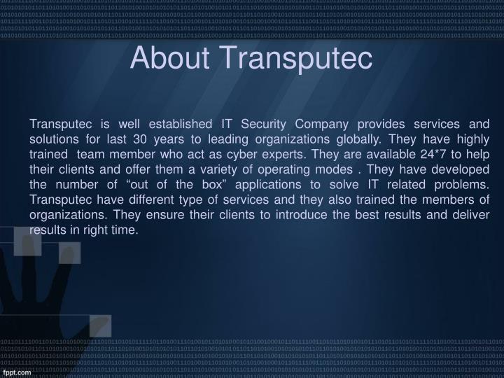 About Transputec