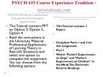 psych 635 course experience tradition tutorialrank com2