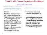 psych 635 course experience tradition tutorialrank com4