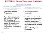 psych 635 course experience tradition tutorialrank com6