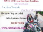 psych 635 course experience tradition tutorialrank com7