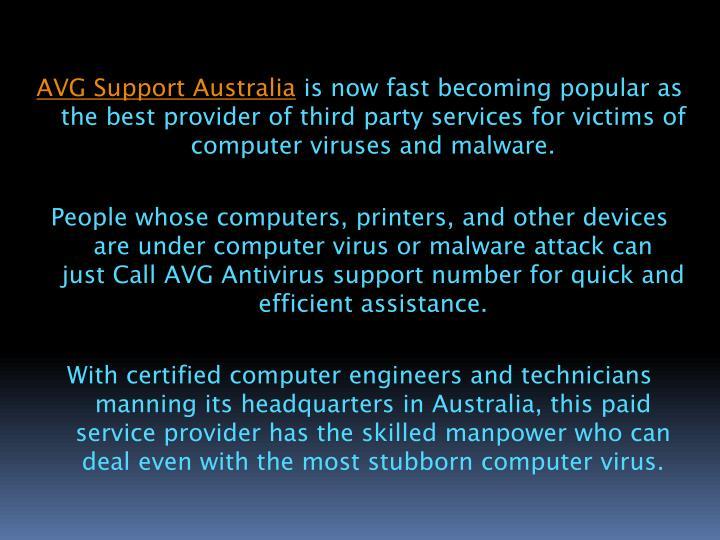 AVG Support Australia