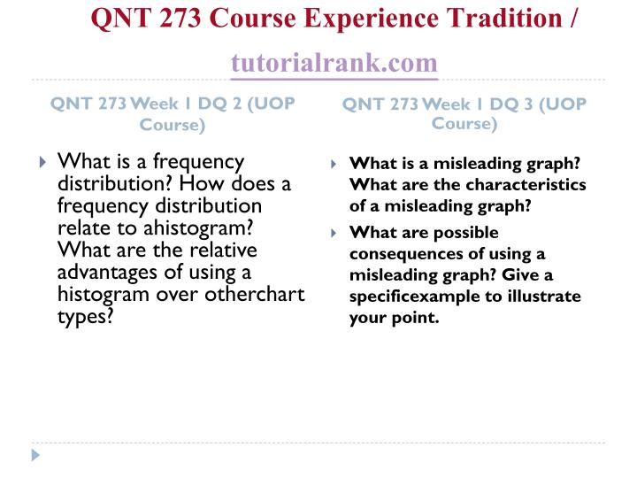 Qnt 273 course experience tradition tutorialrank com2