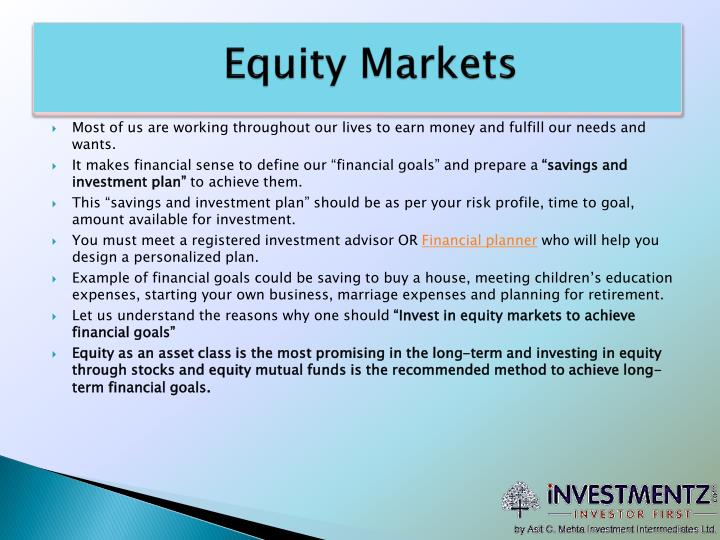 Equity markets
