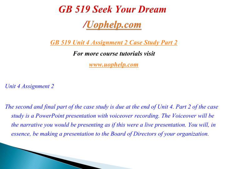 GB 519 Seek Your Dream/