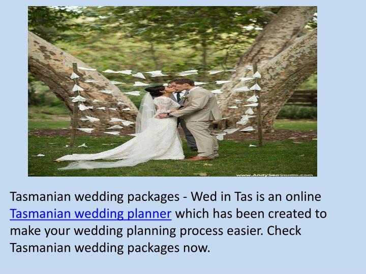Tasmanian wedding packages - Wed in
