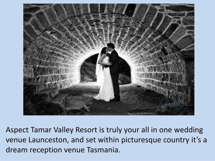 Aspect Tamar Valley Resort is truly your all in one wedding venue Launceston, and set within picturesque country it's a dream reception venue Tasmania.