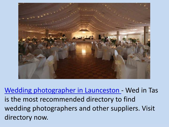 Wedding photographer in Launceston