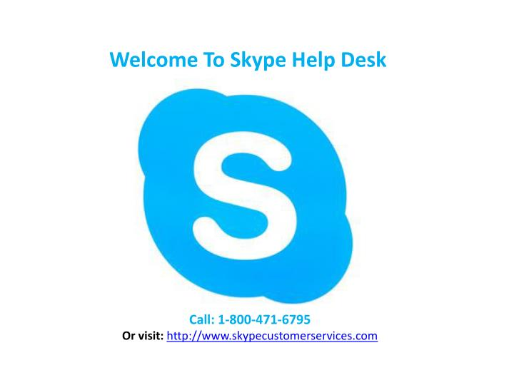 Welcome To Skype Help Desk