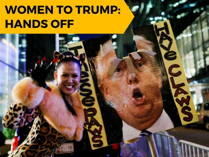 Ladies to trump hands off