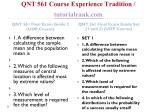 qnt 561 course experience tradition tutorialrank com2