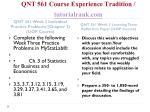 qnt 561 course experience tradition tutorialrank com8