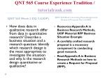 qnt 565 course experience tradition tutorialrank com5