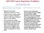 qnt 565 course experience tradition tutorialrank com6