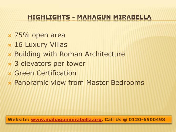Highlights mahagun mirabella