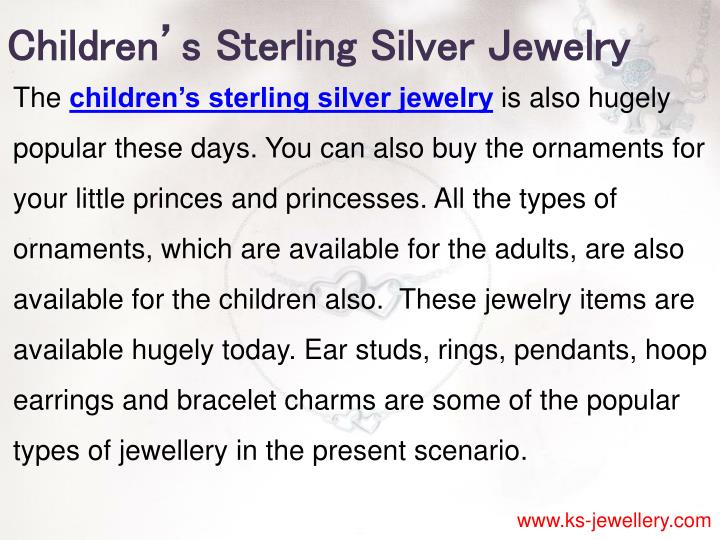 Children's Sterling Silver Jewelry