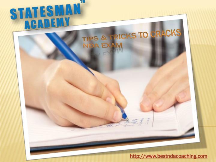 Tips & Tricks to cracks NDA Exam