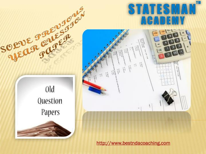 Solve previous year question paper