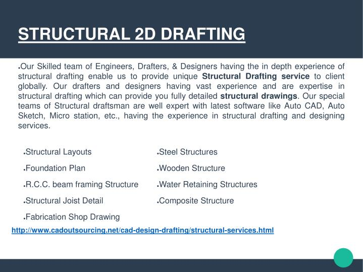 STRUCTURAL 2D DRAFTING